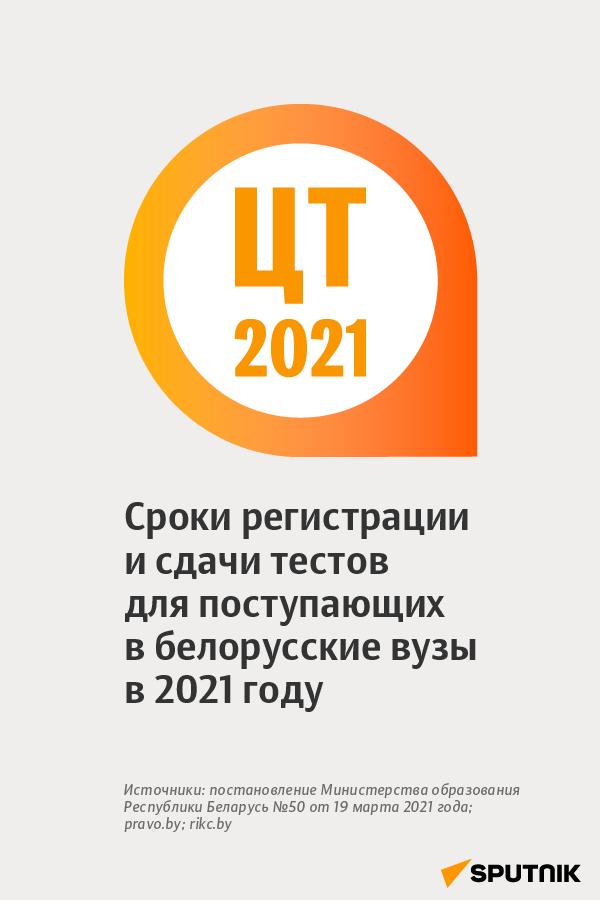 ЦТ-2021 в Беларуси: сроки регистрации и сдачи тестов для поступающих в белорусские вузы - Sputnik Беларусь