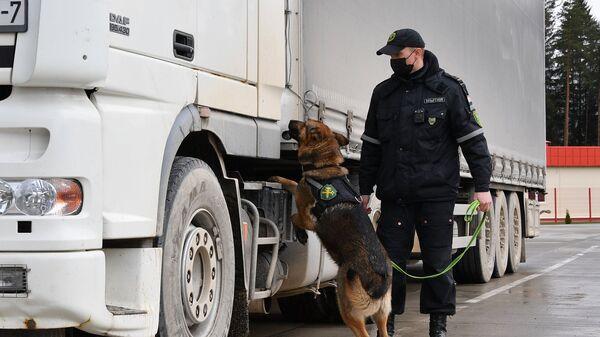 Кінолаг са службовым сабакам даглядаюць груз - Sputnik Беларусь