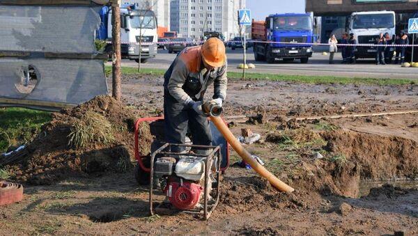 Работы по ликвидации ЧП продолжаются утром в четверг - Sputnik Беларусь