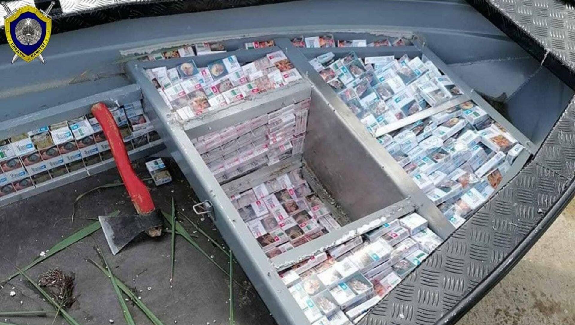 Контрабандные сигареты изъяли на границе Беларуси и Литвы - Sputnik Беларусь, 1920, 22.04.2021