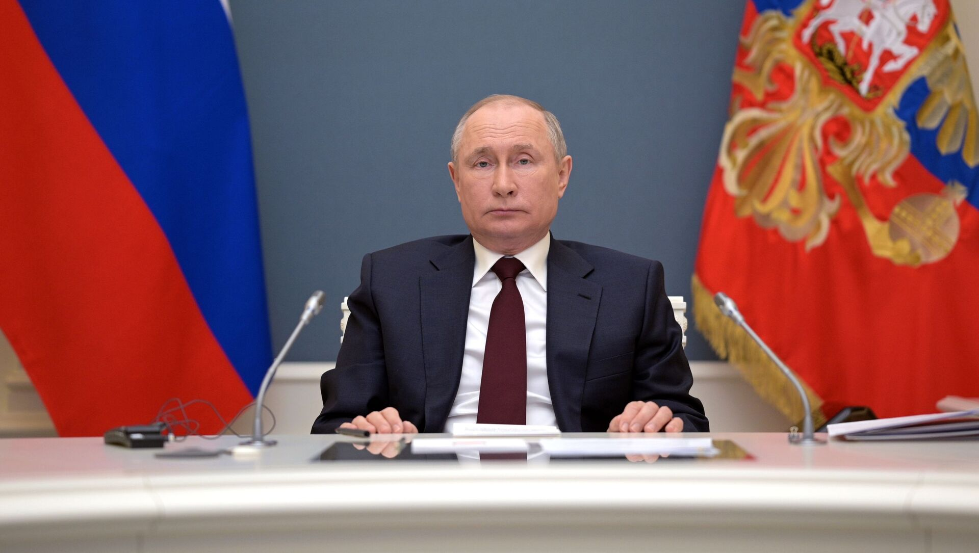 Президент РФ В. Путин выступил на онлайн-саммите по климату - Sputnik Беларусь, 1920, 22.04.2021