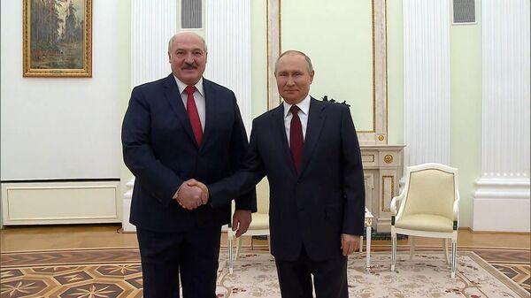 Пуцін і Лукашэнка абмеркавалі сітуацыю ў Данбасе - відэа - Sputnik Беларусь