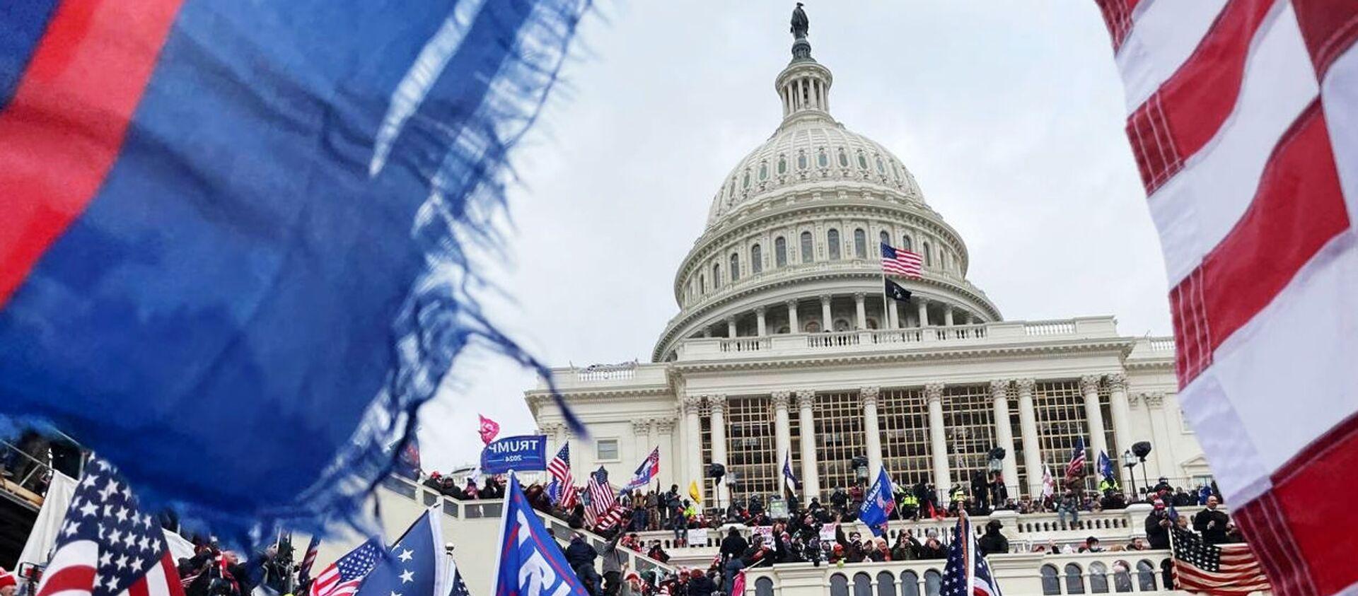 Здание конгресса в Вашингтоне - Sputnik Беларусь, 1920, 23.04.2021