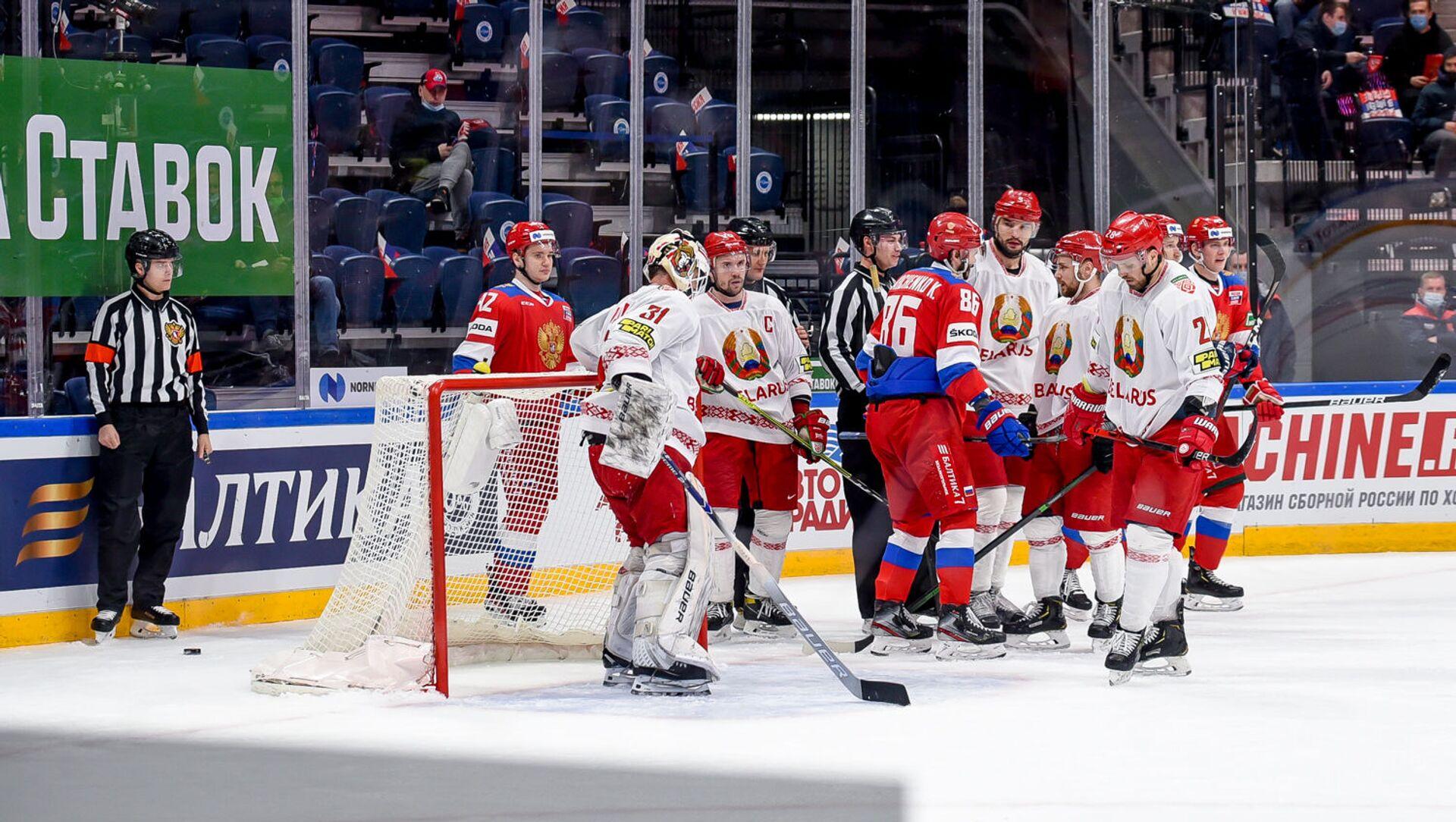 Белорусские хоккеисты проиграли второй матч в Москве - Sputnik Беларусь, 1920, 24.04.2021