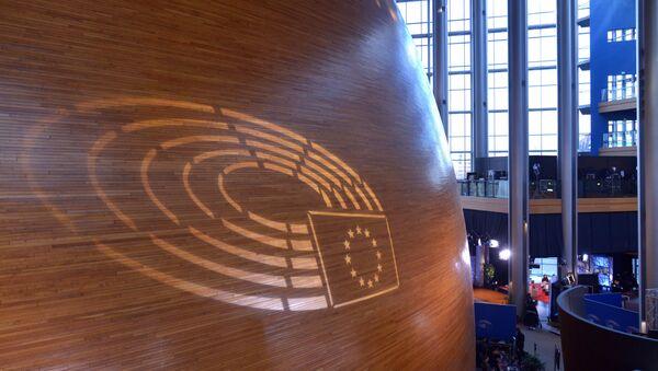 Логотип Евросоюза в главном здании Совета Европы в Страсбурге - Sputnik Беларусь