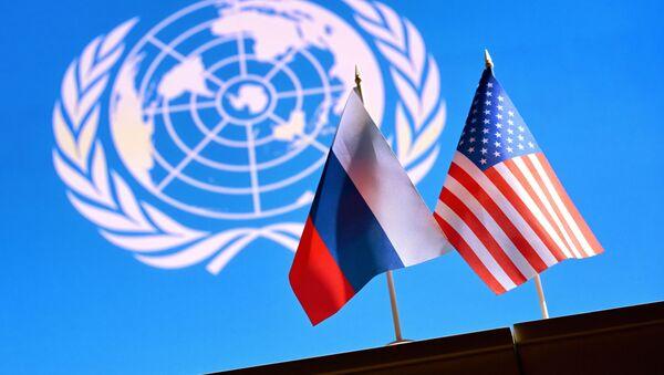 Флаги России и США - Sputnik Беларусь
