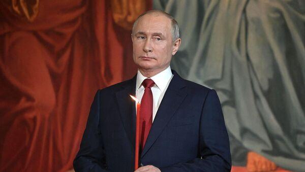 Пасхальное богослужение в храме Христа Спасителя - Sputnik Беларусь