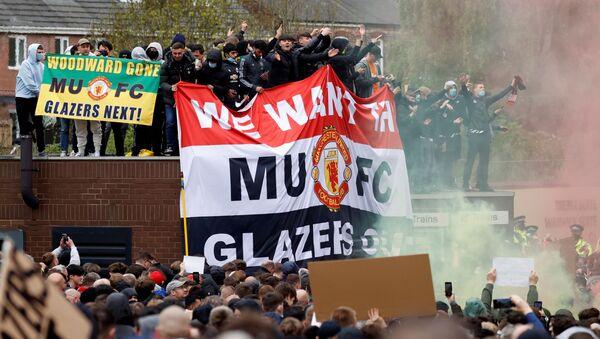 Фанаты Манчестер Юнайтед протестуют против владельцев клуба - Sputnik Беларусь