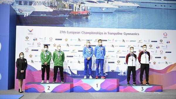 Белорусские спортсмены завоевали 13 медалей на чемпионате Европы в Сочи по прыжкам на батуте, акробатической дорожке и двойном мини-трампе  - Sputnik Беларусь