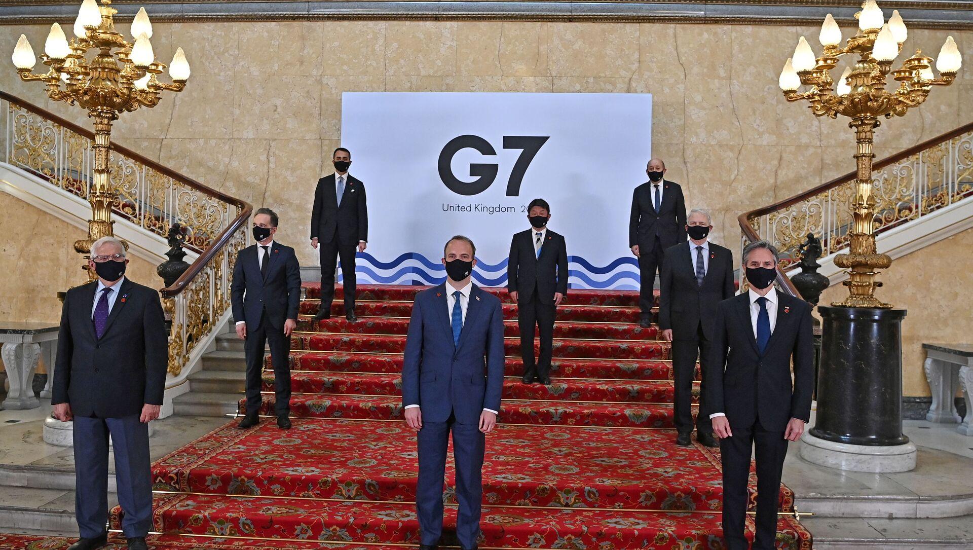 В начале встречи министров иностранных дел G7 в Лондоне - Sputnik Беларусь, 1920, 04.05.2021