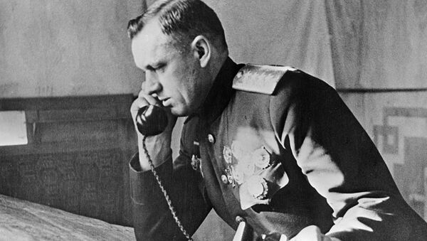 Камандуючы I-м Беларускім фронтам генерал арміі Канстанцін Ракасоўскі - Sputnik Беларусь