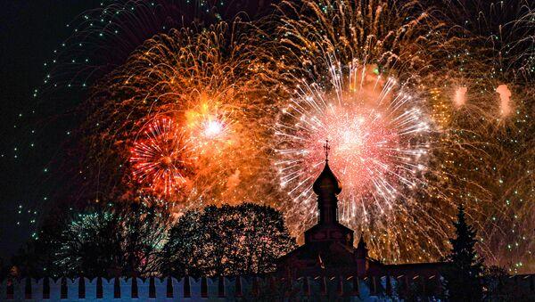 СПУТНИК_LIVE: Праздничный салют в Москве в честь 76-ой годовщины Победы - Sputnik Беларусь