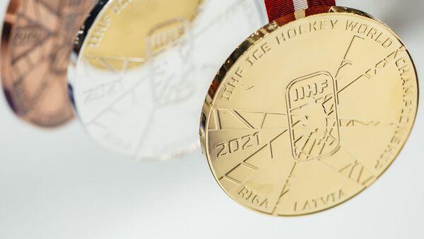 Прадстаўлены медалі чэмпіянату свету па хакеі ў Рызе - Sputnik Беларусь