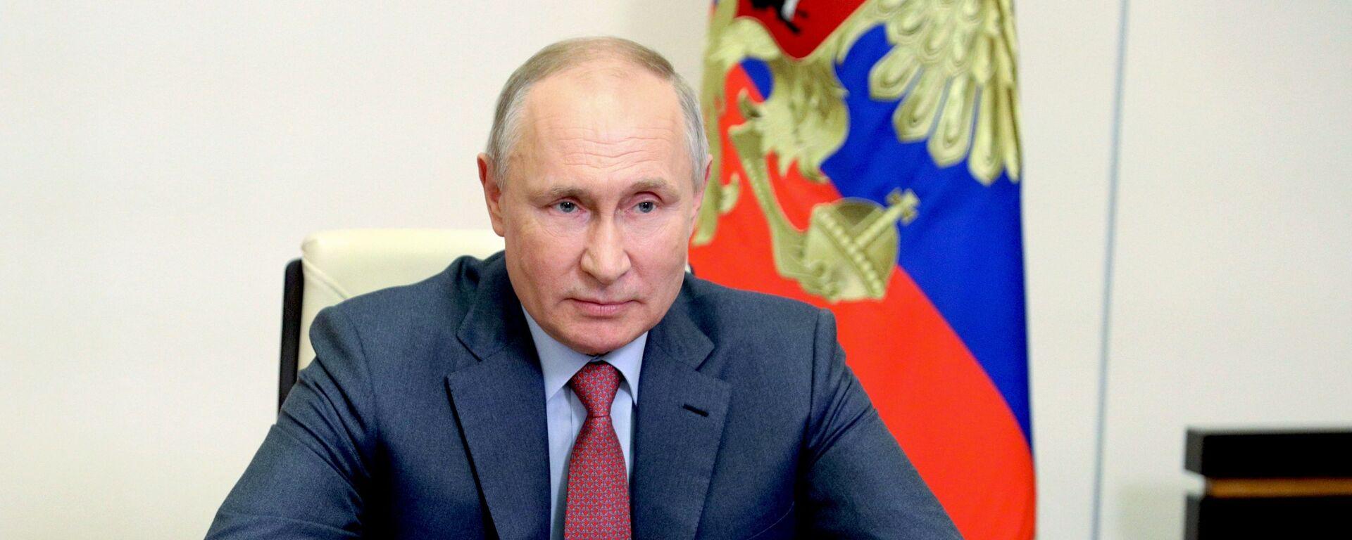 Президент РФ В. Путин провел заседание Совбеза РФ - Sputnik Беларусь, 1920, 18.05.2021