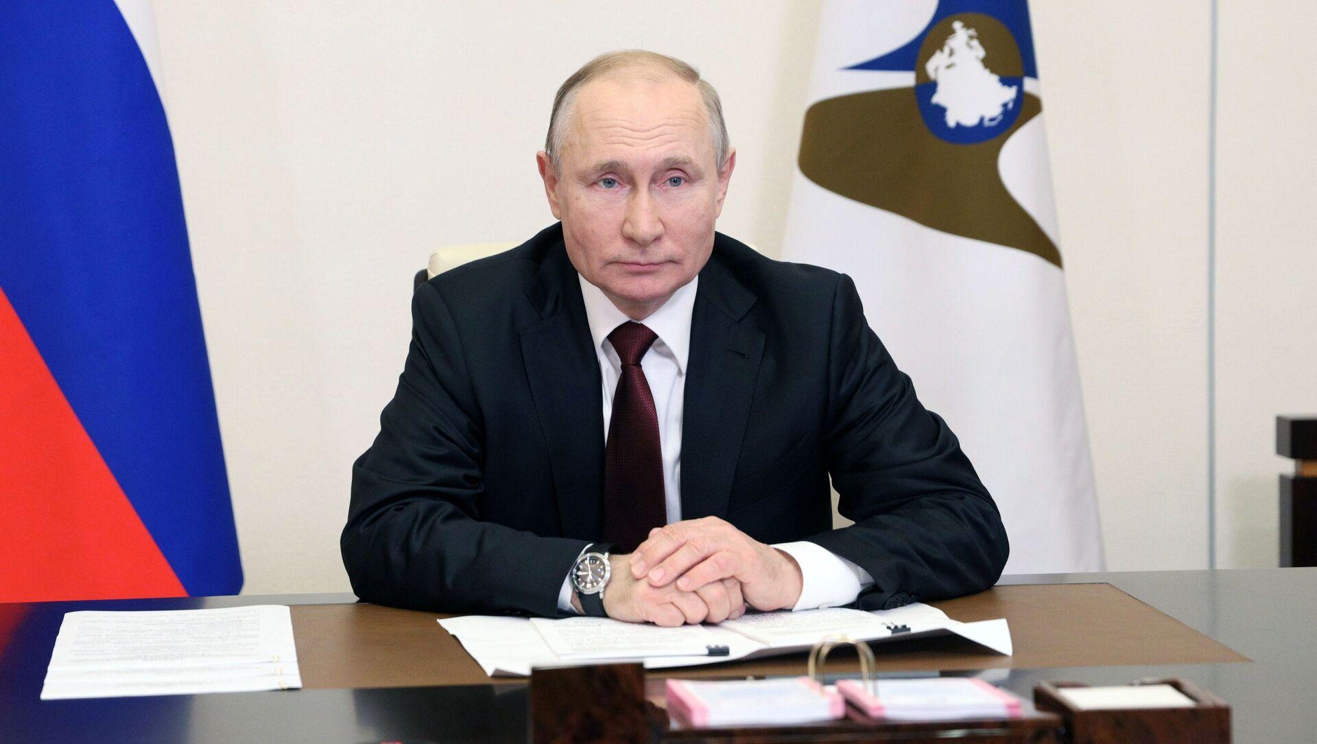 Президент России Владимир Путин принял участие в заседании Высшего Евразийского экономического совета - Sputnik Беларусь, 1920, 21.05.2021