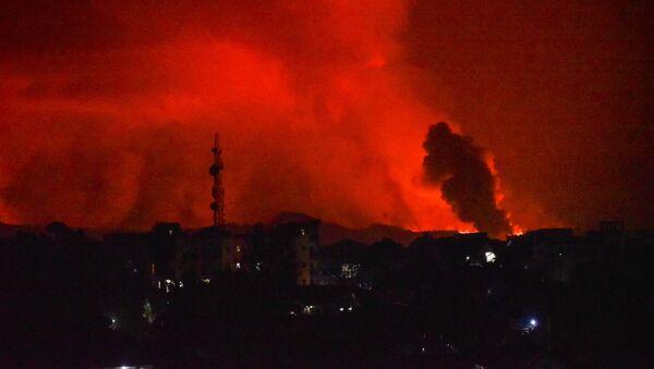 Извержение вулкана на горе Ньирагонго недалеко от Гомы, Демократическая Республика Конго - Sputnik Беларусь