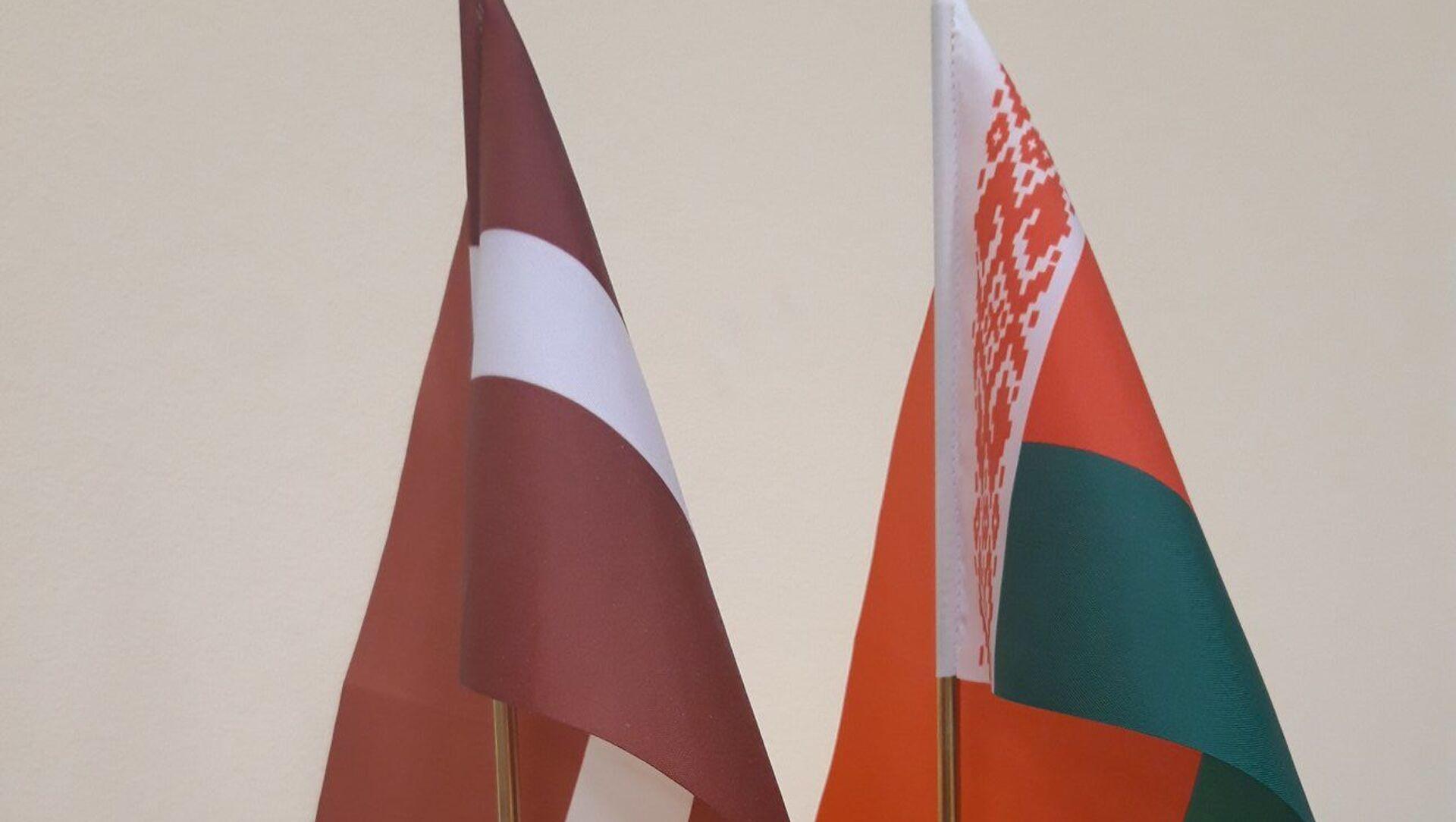 Флаги Беларуси и Латвии - Sputnik Беларусь, 1920, 24.05.2021