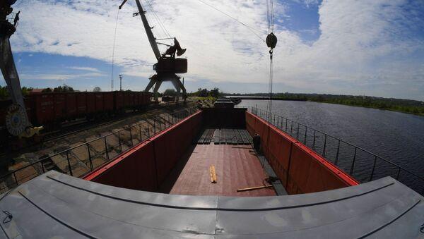Мазырскі рачны порт - Sputnik Беларусь