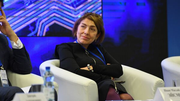 Заместитель главного редактора МИА Россия сегодня Наталья Лосева на I Форуме медийного сообщества Беларуси - Sputnik Беларусь