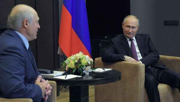 Президент РФ В. Путин встретился с президентом Белоруссии А. Лукашенко - Sputnik Беларусь
