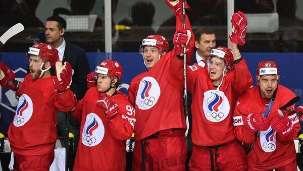 Хоккеисты сборной России - Sputnik Беларусь