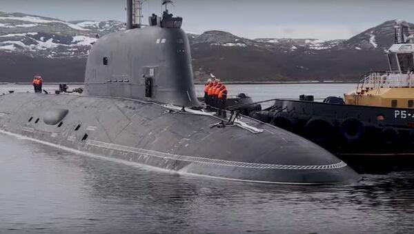 Атамная субмарына тыпу Ясень-М прыбыла ў Паўночны флот – відэа - Sputnik Беларусь