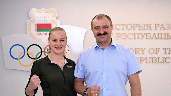 Валентина Шевченко и Виктор Лукашенко - Sputnik Беларусь