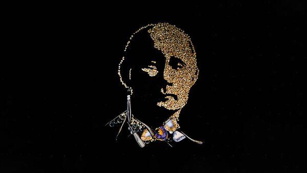 Пуцін натхніў мастачку стварыць палатно з зубоў - відэа - Sputnik Беларусь