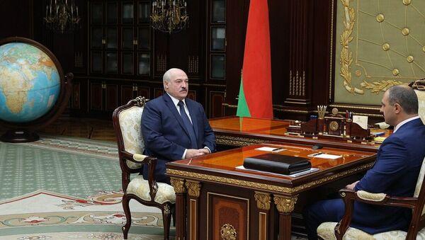 Рабочая сустрэча з прэзідэнтам НАК Віктарам Лукашэнкам  - Sputnik Беларусь