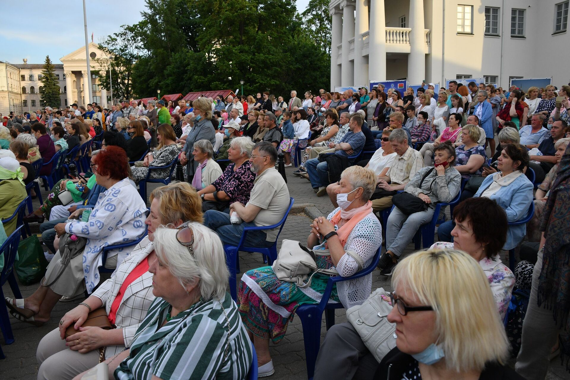 Праздничный концерт в Минске по случаю Дня России - Sputnik Беларусь, 1920, 29.06.2021