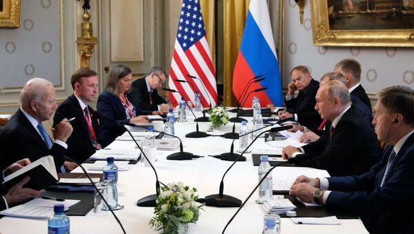 Встреча президентов России и США В. Путина и Дж. Байдена в Женеве - Sputnik Беларусь