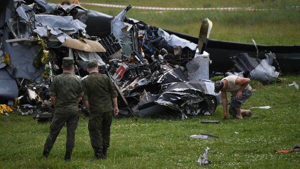 На месте крушения самолета Л-410 в Кемеровской област - Sputnik Беларусь