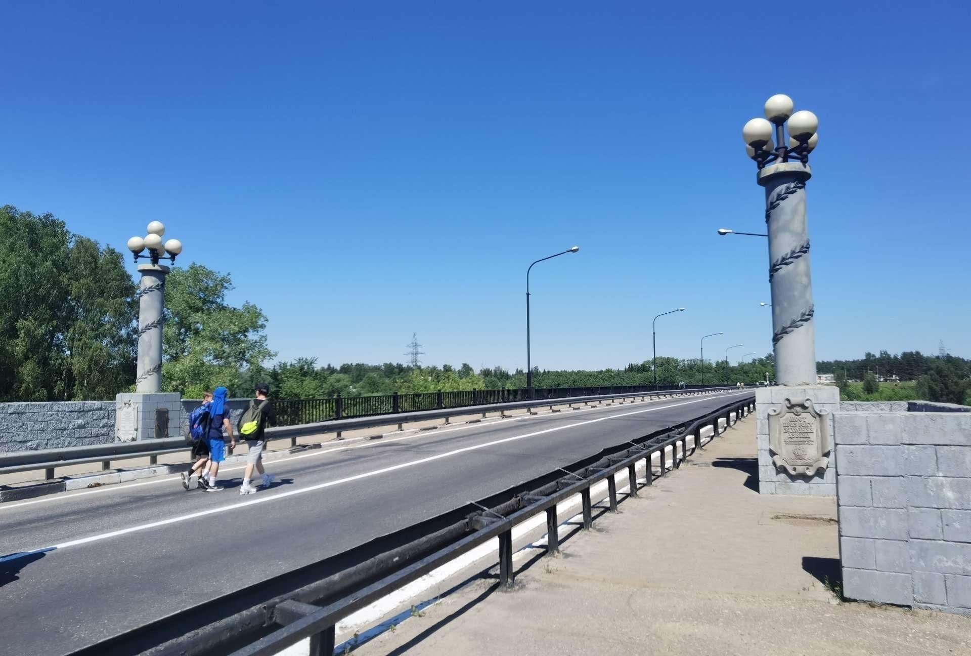 Калининский мост в Новополоцке на период ремонта доступен только для пешеходов - Sputnik Беларусь, 1920, 29.06.2021