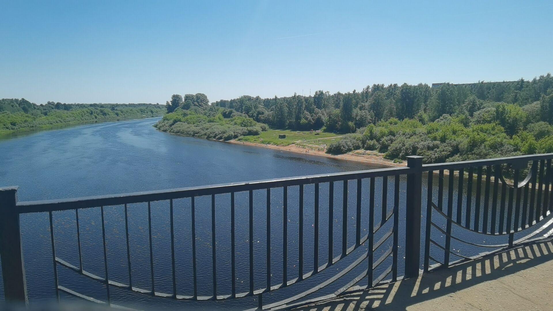 Вид на Западную Двину с Калининского моста в Новополоцке - Sputnik Беларусь, 1920, 29.06.2021