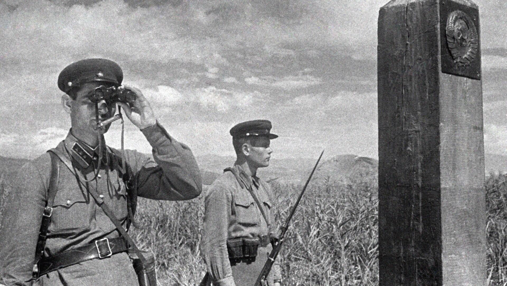 Советские пограничники, архивное фото - Sputnik Беларусь, 1920, 22.06.2021