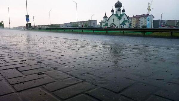 Жара отступила: в Березино пришел сильный ливень с грозой - Sputnik Беларусь