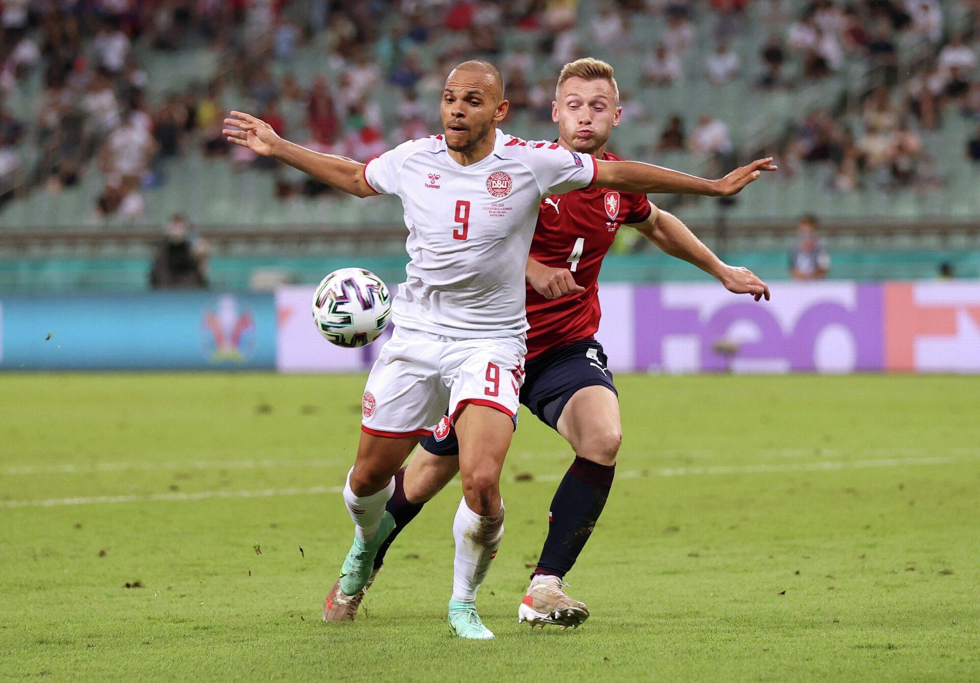 Дания обыграла Чехию в 1/4 финала Евро-2020 - Sputnik Беларусь, 1920, 03.07.2021