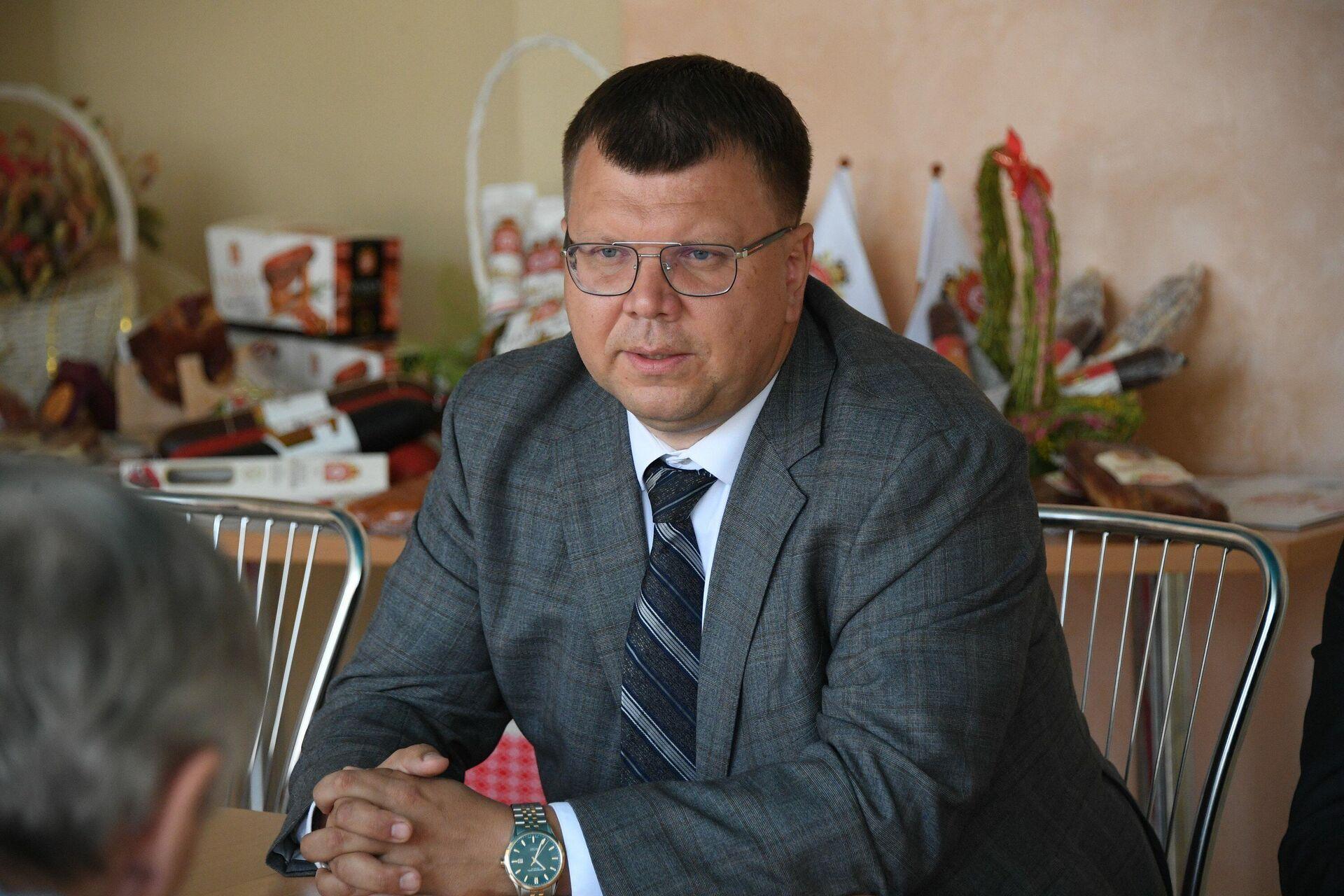 Генеральный директор ОАО Гродненский мясокомбинат Олег Иванов - Sputnik Беларусь, 1920, 06.07.2021