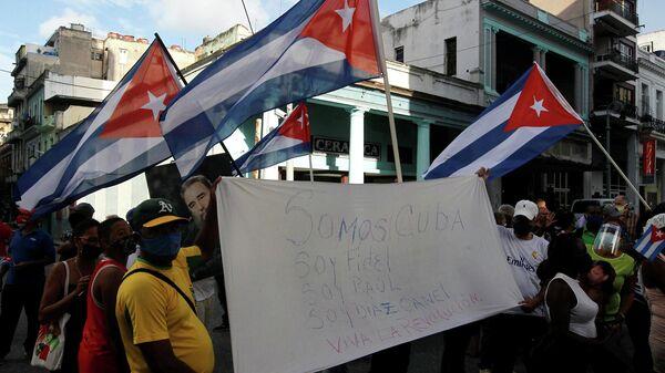Президент Кубы призвал коммунистов выйти на улицы на фоне протестов в городах - Sputnik Беларусь