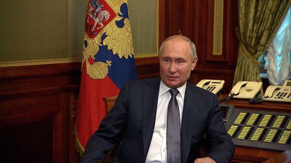 Пуцін пра сувязь паміж Расіяй, Украінай і Беларуссю - відэа - Sputnik Беларусь