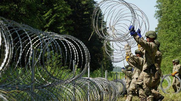 Ограждение на белорусско-литовской границе - Sputnik Беларусь