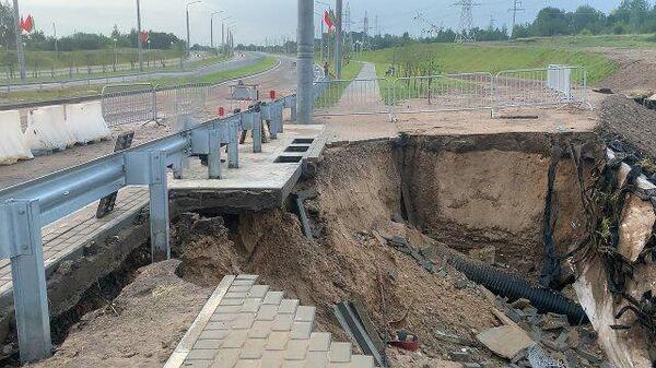 Другі раз за два тыдні: мост у Гродна ізноў размыла - Sputnik Беларусь