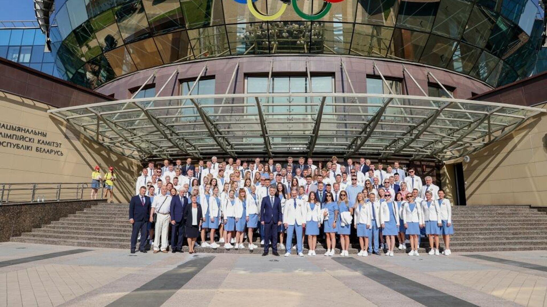 Спортивная делегация Беларуси на Олимпиаду в Токио - Sputnik Беларусь, 1920, 21.07.2021