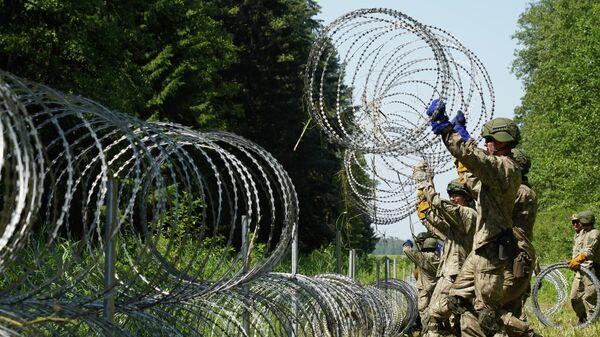 К чему приведет стрельба над головами мигрантов на границе Литвы с Беларусью? - Sputnik Беларусь