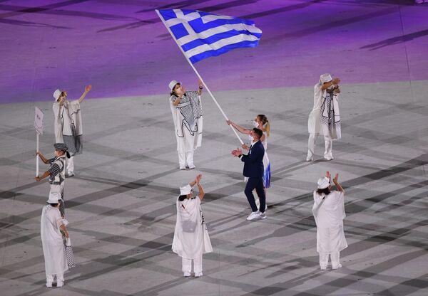 Аднак традыцыйна першай праходзіла каманда Грэцыі - родапачынальніка Алімпійскіх гульняў. - Sputnik Беларусь