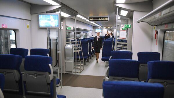 Отправление скоростного поезда Ласточка из Минска в Москву - Sputnik Беларусь