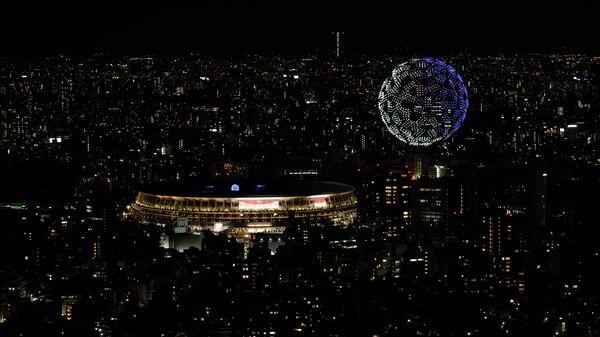 Невероятное шоу дронов в небе над Токио на открытии Олимпиады ― видео - Sputnik Беларусь
