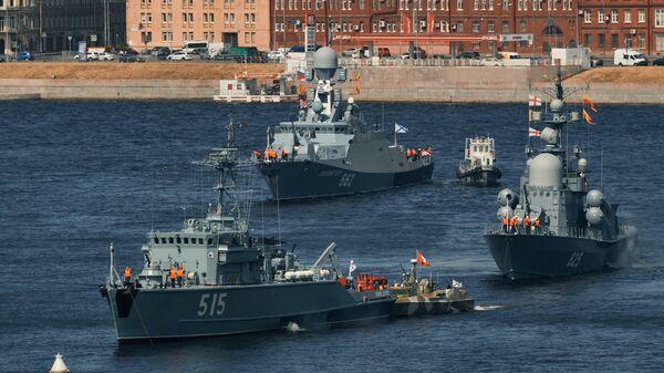 Парад да Дня Ваенна-марскога флоту Расіі - відэа - Sputnik Беларусь