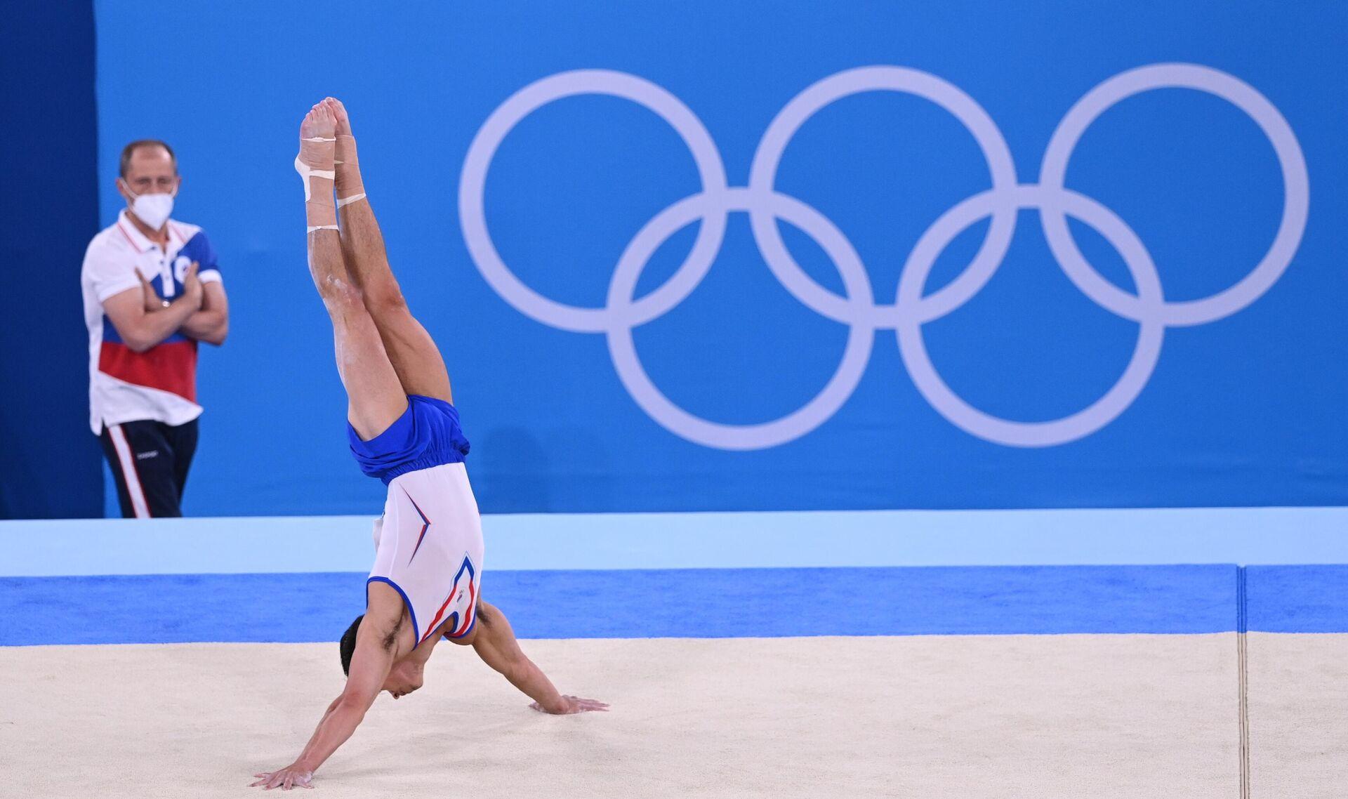 Российский спортсмен Артур Далалоян выполняет вольные упражнения - Sputnik Беларусь, 1920, 26.07.2021