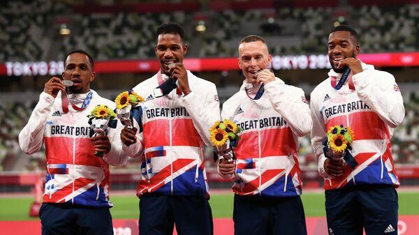 Британцы, выигравшие серебро эстафеты - Sputnik Беларусь